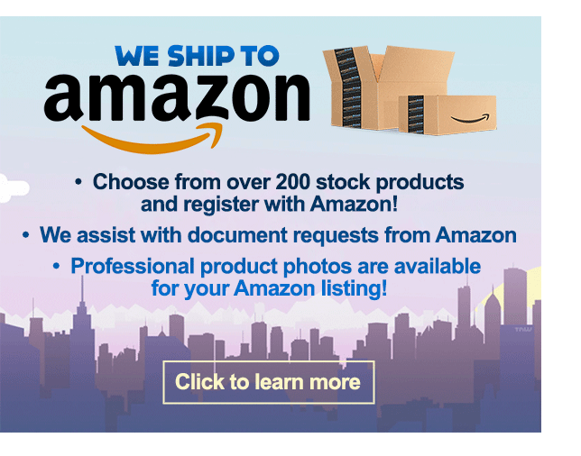 We ship to Amazon. 