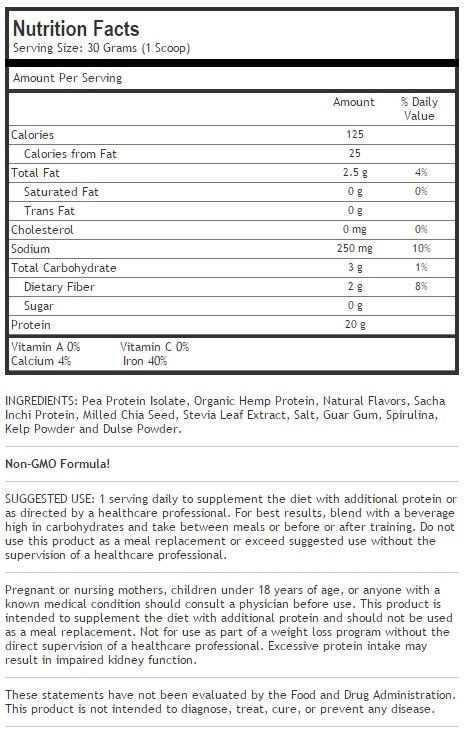 Vegan Protein-Vanilla