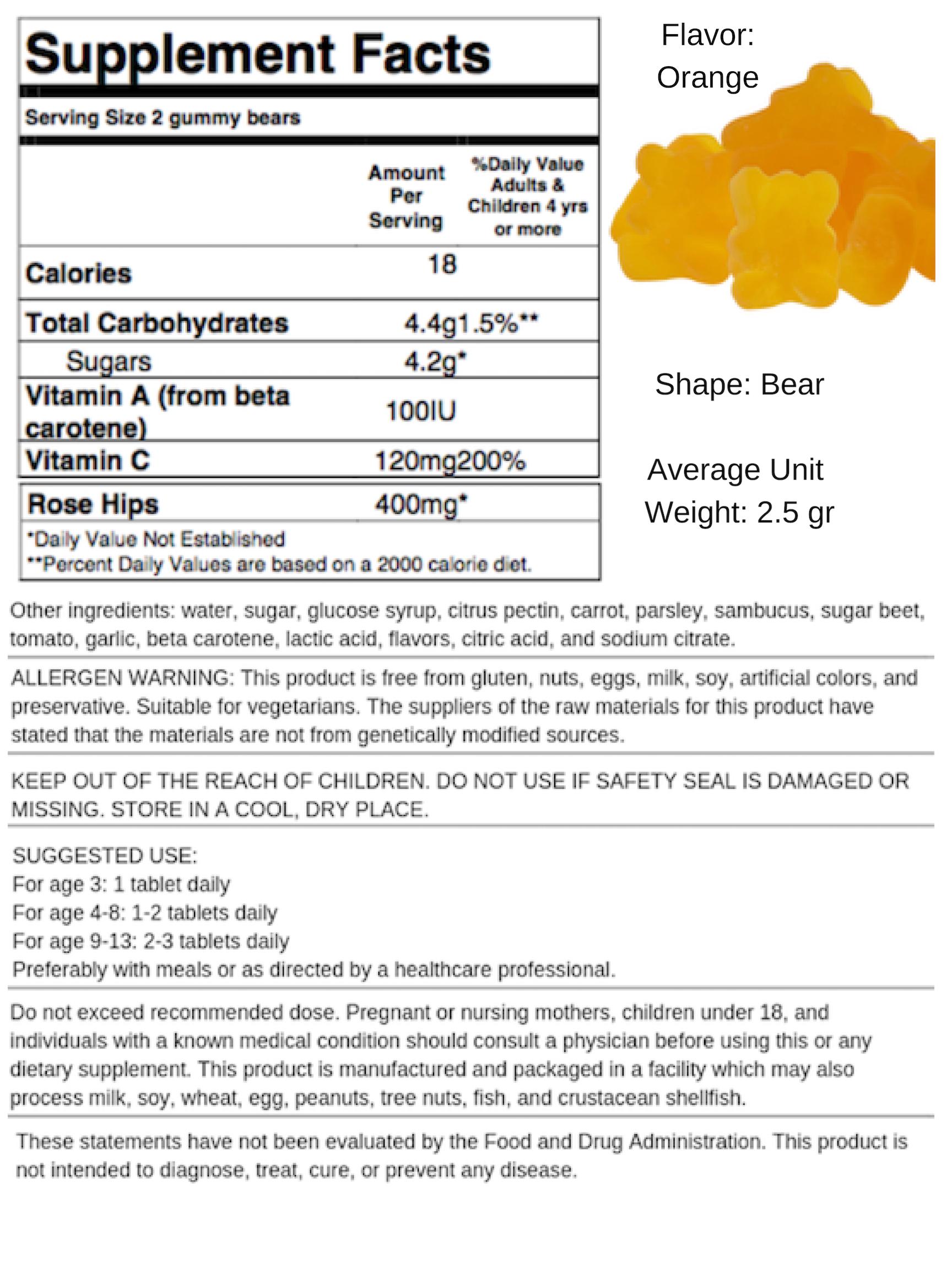 Vitamin C Bears