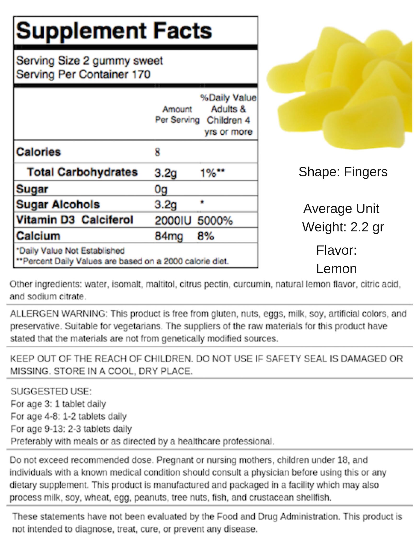 Vitamin D with Calcium - Lemon